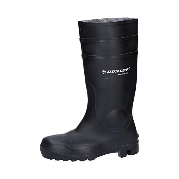Dunlop Botas de agua modelo Wellington de seguridad amarillas modelo Devon unisex